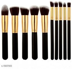 Accessories Standard Choice Makeup Brushes Set Product Name: Makeup Brush Black Set of 10 (Black) Product Type: Makeup Brushes Set  Description: It Has 1 Pack Of Makeup Brushes Set ( Packing Contains 10 Pieces ) Country of Origin: India Sizes Available: Free Size   Catalog Rating: ★3.9 (3369)  Catalog Name: Make Up Premium Unique Choice Makeup Brushes Set Vol 1 CatalogID_248796 C51-SC1246 Code: 352-1887383-