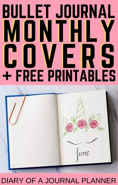 Get all the monthly cover inspiration you need for the rest of the year here, plus theme ideas and free bullet journal printables! #printables #monthlycovers #Bulletjournalcovers #bulletjournalprintables #freeprintables Bullet Journal Layout Templates, Bullet Journal Contents, Bullet Journal Monthly Spread, Bullet Journal Printables, Bullet Journal How To Start A, Bullet Journal Themes, Bullet Journal Inspiration, Bullet Journals, Journal Quotes