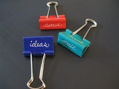Binder clips for Hipster PDA