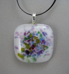 """Check out my """"Frit Garden"""" pendants in the webstore - Bargain priced at just $12 each!  All individually handmade.  Wonderful handmade, unique gift items for yourself or someone special!  http://dichroicadventures.com/store/index.php?cPath=57"""