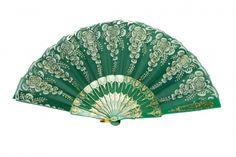 #Green Hand Fan