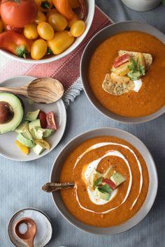 Smoky Tortilla Soup | Vegetarian 'Ventures Plant-based, vegan, vegetarian, and gluten-free recipes