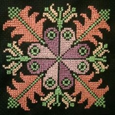 My Palestinian Cross stitching! A mini purse to be. needs some beads as a final magic touch. Cross Stitch Gallery, Cross Stitch Borders, Cross Stitch Baby, Cross Stitch Flowers, Cross Stitch Designs, Cross Stitching, Cross Stitch Patterns, Embroidery Purse, Ribbon Embroidery