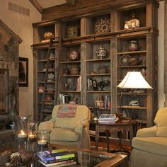 rustic bookshelves - Google Search
