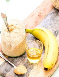 Banana and Peanut Butter Overnight Oats www.threekidsandcountingthepennies.com