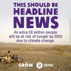 #ClimateChange could put 50 million more people at risk of #hunger by 2050. Climate change could put back the fight against hunger by decades but our global food system is woefully unprepared to cope with the challenge. The warning comes as governments gather in Japan at the #IPCC, to agree a major new scientific report, which is expected to show that the impacts of climate change on food will be far more serious and will hit much sooner than previously thought. More at: http://oxf.am/icZ