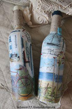 декор бутылок морской стиль - Поиск в Google