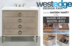 Come see our Hayden design on display in the @samuelheathofficial booth 532 @westedgedesign show. We are so excited to be relaunching our product line in SoCal. Come see what The Furniture Guild is all about!