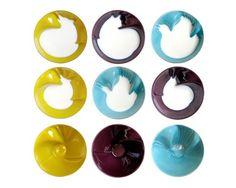 The cat, the bird, the wolf. Porcelain bowls by GERALDINE DE BECO for Bernardaud, 2010. Genius!