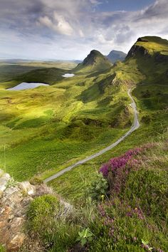 ~Isle of Skye, Scotland~drove this very road - like many roads on Skye this is a single lane road with pull offs (2 are visible in this photo) so cars can pass each other