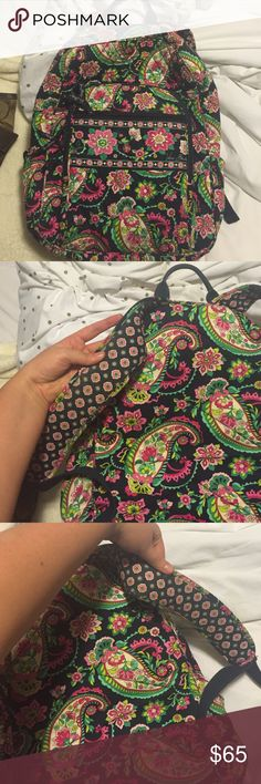 Vera Bradley Campus Backpack Vera Bradley Campus Backpack - 100% authentic. IN GREAT CONDITION, NO RIPS, NO STAINS, BARELY USED • this color is no longer available through Vera Bradley stores • Vera Bradley Bags Backpacks