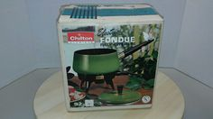 Vintage Chilton Electric Fondue Set  Avocado #Chilton