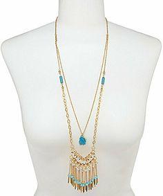 Anna & Ava 2-Row Boho Fringe Necklace on shopstyle.com