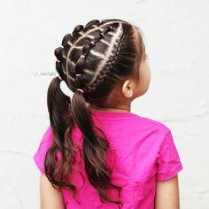 Hairstyles | Hair Ideas | Hairstyles Ideas | Braided Hair | Braided Hairstyles | Braids for Girls | Braids for Little Girls | Toddler Hairstyles | Toddler Hair Ideas | Braids | Updos | Half Up | Ponytails | Dutch Braids | Elastics | Pigtails