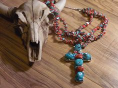 Gypsy Cowgirl Chic Turquoise Howlite Red Coral by gypsycowgirlchic  save 25% use code 25off at checkout!