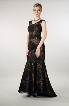 Lorellana Couture Inc. This gorgeous upscale shimmering ball gown is perfect for any formal event. Lace Evening Gowns, Mother Of The Bride Gown, Ball Gowns, Sequins, Glamour, Bride Gowns, Couture, Night Outfits