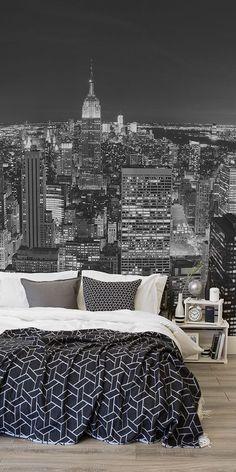 Decorazione Murale Con Panoramica Di New York Bedroom Wallpaper