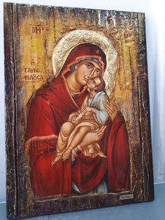 Item International, Bee Wax, Byzantine Icons, Gold Labels, I Icon, Great Love, Virgin Mary, Athens, No Response