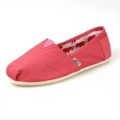 Toms Womens Pink Shoes, so cheap! Cheap Toms Shoes, Toms Shoes Outlet, Pink Shoes, New Shoes, Women's Shoes, Toms Outlet Store, Crochet Shoes, Womens Toms, Beautiful Shoes