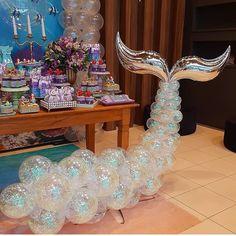 5 clever ideas to prepare the nursery. Baby Girl Birthday Theme, Barbie Birthday, Barbie Party, Mermaid Birthday, Kids Party Themes, Birthday Party Decorations, Birthday Parties, Mermaid Barbie, Mermaid Baby Showers