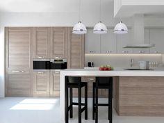 ❗Согласитесь, чем больше свободного пространства на кухне, тем лучше: удобнее хозяйке и интерьер не перегружен лишними деталями. 🔹Визуально расширить небольшое помещение помогут светлые оттенки и минималистичный дизайн. 🔹В моде – удобные, но достаточно узкие, в отличие от традиционного стола, барные стойки. 🔹Ещё лучше структурировать помещение, визуально расширив его и выделив определенные зоны с помощью зональной подсветки. Строгий минималистичный дизайн люстры ОМЕГА, её белый цвет…