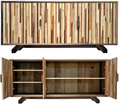pallet wood-Here is the coolest wide screen tv display station. I WANT IT!!