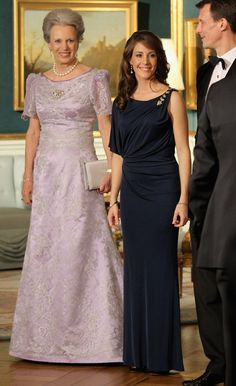 Pin for Later: Princess Marie of Denmark Could Teach Kate Middleton a Styling Trick or 2 Her One-Shoulder Dress Was Appropriately Dazzling and Elegant