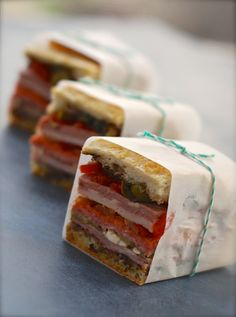 Pressed Italian Sandwich - Picnic Food (idea - wrap it in rice paper)