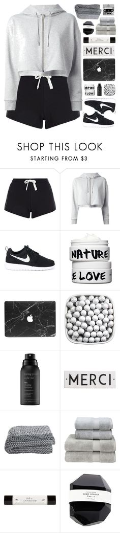 """WORD PLAY"" by emmas-fashion-diary ❤ liked on Polyvore featuring New Look, Yves Saint Laurent, NIKE, Nature Girl, Living Proof, Rosanna, Christy and philosophy"