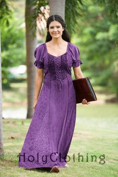 Shop Haley Puff Sleeve Lace-Up Corset Dress In Purple Passion: http://holyclothing.com/index.php/haley-puff-sleeve-lace-up-renaissance-peasant-corset-dress.html From $44.99. Repins are always appreciated :) #holyclothing #fashion