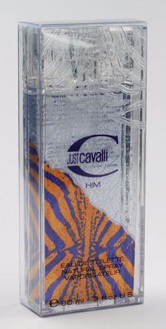 JUST CAVALLI HIM by ROBERTO CAVALLI for Men EDT 2.0 oz/60 ml, New In Box…