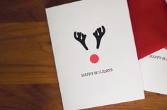 rudolph holiday card free printable