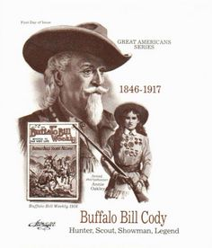 STAMPS US BUFFALO BILL CODY FDC ARTMASTER COVER