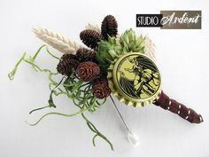 wedding bouquet with hops | Boutonnieres made with real beer Hops! Real Stone Brewing Hops and ...