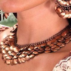 Renaissance Necklace - Copper Disc Style