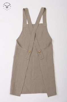 Pure Linen Pinafore Apron - Linen Apron - Custom Color Linen Apron - Long Linen Apron - Square Cross Linen Apron - Hand Made Linen Apron, Source by clothes ideas Japanese Apron, Pinafore Apron, Linen Apron, Sewing Aprons, Mode Chic, Apron Dress, Linen Fabric, Diy Clothes, Cute Outfits