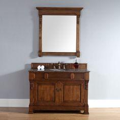 "Brookfield 48"" Traditional Single Sink Bathroom Vanity, Country Oak by James Martin  Model #: 147-114-5271"