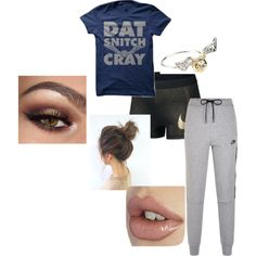 Untitled #27 by lookattheseasonschange on Polyvore featuring NIKE and Warner Bros.