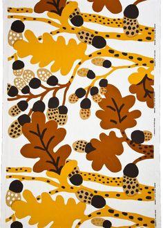 Katsuji Wakisaka, textile design Sademetsa for Marimeko, 1974, Finland. Wakisaka was the first Japanese designer who worked for Marimeko in 1968. In the 1980s he returned to Japan to start his own design company Sou Sou.