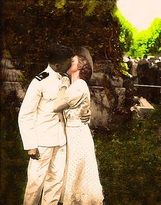 The Kiss - Two Lovers reunited after the war share a Kiss - Great Valentines Day or Anniversary Gift by JugofMilk on Etsy Framed Art, Framed Prints, Retro Art, Anniversary Gifts, Kiss, Canvas Prints, Valentines, Black And White, Couple Photos
