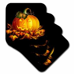 3dRose cst_11657_3 Glowing Jackolantern and Autumn Leaves on Halloween Night in Ceramic Tile Coasters Black Set of 4 * Click image for more details. (This is an affiliate link) Bar Coasters, Agate Coasters, Marble Coasters, Ceramic Coasters, Golden Age Of Hollywood, Halloween Night, Ceramic Painting, Pumpkin Carving, Autumn Leaves