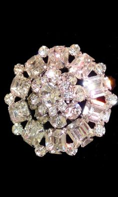 Vintage signed Weiss rhinestone brooch at Dress the art of Wearing vintage