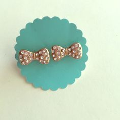 Fashion button now gold  Brand new studs☺️Price is firm unless bundled☺️ Save 10% off bundles - About bundles: Bundles are individual listings that include multiple items from my closet and are sold to one buyer (so you only have to hit the buy button and pay for shipping once). Saving you  Bachigs Jewelry Earrings