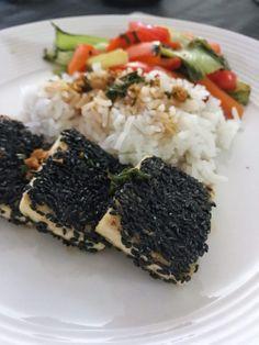Sesame Crusted Tofu with Tamari-Lime Sauce