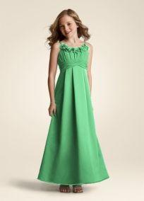 David's Bridal Bridesmaid Dresses Sleeveless Satin V-Neck Dress ...