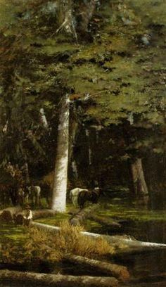 In the Forest - Giuseppe de Nittis