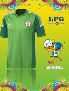Camiseta de la selección de Nigeria en el mundial #Brasil2014