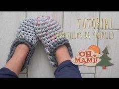 Cómo hacer unas zapatillas de Ganchillo | Crocheted slippers tutorial - YouTube