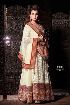 Cream Anarkali Salwar Kameez Online From Easysarees