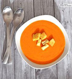 Crema de pimientos rojos Best Soup Recipes, Nut Recipes, Healthy Crockpot Recipes, Healthy Eating Recipes, Mexican Food Recipes, Vegetarian Recipes, Cooking Recipes, Coliflower Recipes, Vegan Gains